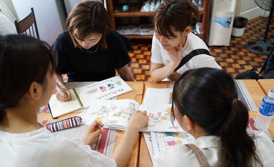 ユメキャンプ参加中の女子大生