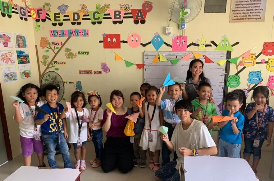 ユメキャンプ参加中の大学生